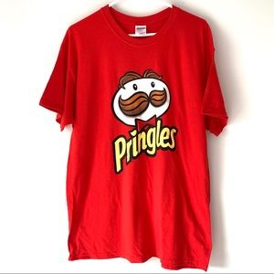 Pringle's Red Graphic T-shirt Size Large New